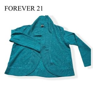Forever 21 open blue sweater